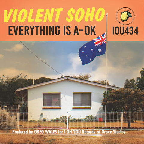 Violent Soho - Everything Is A-OK (Purenoise Webstore Exclusive Neon Yellow & Orange Crush Vinyl LP x/200)