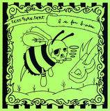Less Than Jake - B Is For B-Sides (Limited Edition Grass Green w/ Sky Blue Center Vinyl LP x/650 w/ Screenprinted Cover)