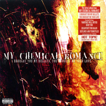 My Chemical Romance - I Brought You My Bullets, You Brought Me Your Love (Hot Topic Exclusive Red / White Swirl Vinyl LP - Rare Limiteds