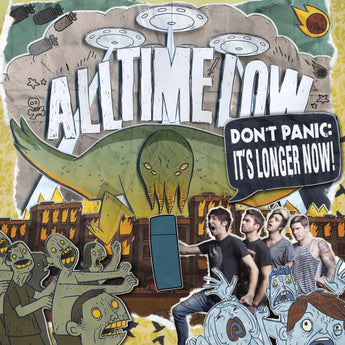 All Time Low - Don't Panic: It's Longer Now! (Hot Topic Exclusive Maroon / White Smash Vinyl 2xLP) - Rare Limiteds