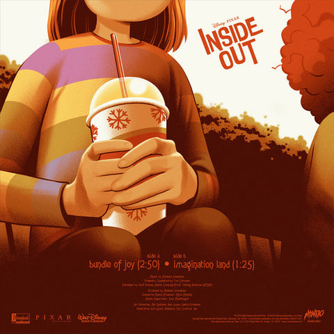 "Michael Giacchino - Inside Out (SDCC 2016 Exclusive Gold / Blue Split Color 7"" Vinyl x/500) - Rare Limiteds"