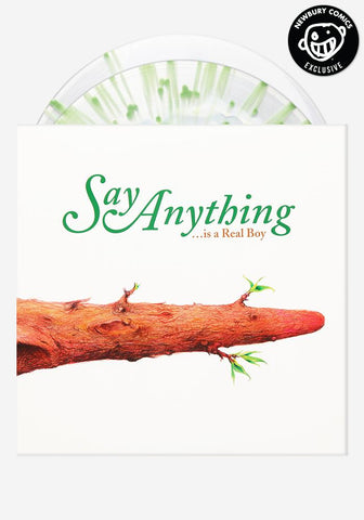 Say Anything - ...Is A Real Boy (Newbury Comics Exclusive White In Clear w/ Green Splatter Vinyl 2xLP x/500)