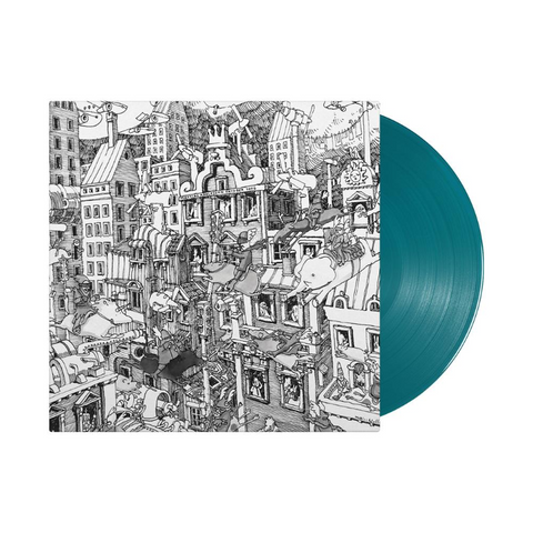 "Dance Gavin Dance - Downtown Battle Mountain II (Limited ""Color Pop"" Edition Sea Blue Vinyl LP x/1000) - Rare Limiteds"