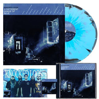 Knocked Loose - A Different Shade Of Blue (Purenoise Exclusive Baby Blue & Black w/ Heavy Cyan Splatter Vinyl LP x/500 + CD + Poster Bundle)
