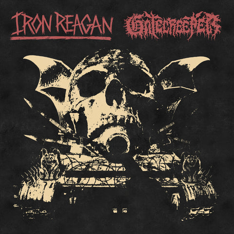 Iron Reagan / Gatecreeper - Split (Relapse Exclusive White / Red Merge w/ Black Splatter Vinyl LP x/100)
