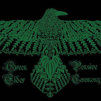 "Green Elder / Pensive Ceremony - Split (Hand-Numbered Translucent Green / Black Split 12"" Vinyl x/150) - Rare Limiteds"