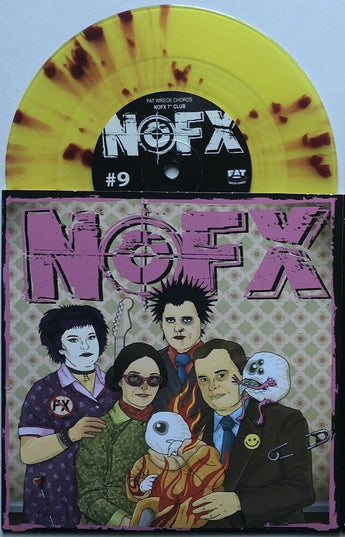 "NOFX - 7"" Of The Month Club #9 (Limited Edition Tranparent Yellow w/ Red Splatter 7"" Vinyl)"