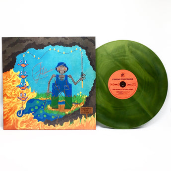 King Gizzard & The Lizard Wizard - Fishing For Fishies (Limited Edition Autographed Swamp Green Vinyl LP) - Rare Limiteds