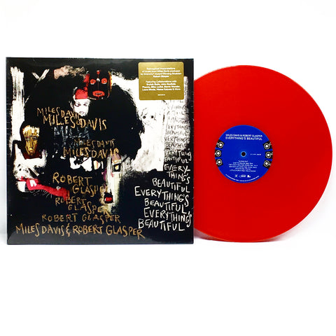 Miles Davis & Robert Glasper - Everything's Beautiful (Limited Edition Red Vinyl LP) - Rare Limiteds