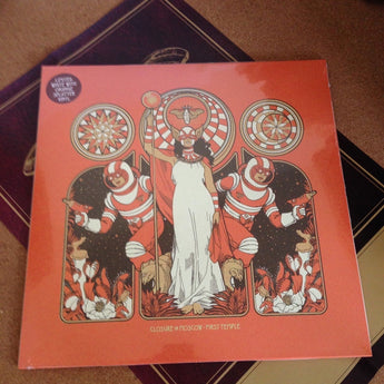 Closure in Moscow - First Temple (White w/ Orange Splatter Vinyl LP x/500 + Poster) - Rare Limiteds