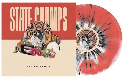 State Champs - Living Proof (Limited Edition Red / Cream Swirl w/ Black Splatter Vinyl LP x/300) - Rare Limiteds