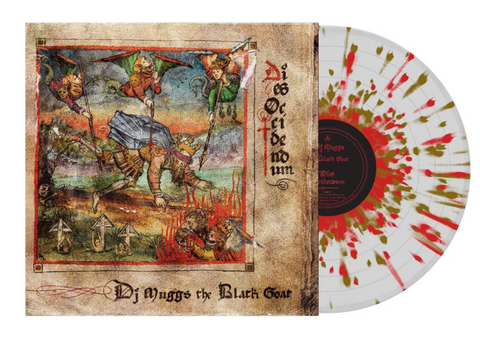 DJ Muggs The Black Goat - Dies Occidendum (Fat Beats Exclusive Clear w/ Red & Gold Splatter Vinyl LP x/500)