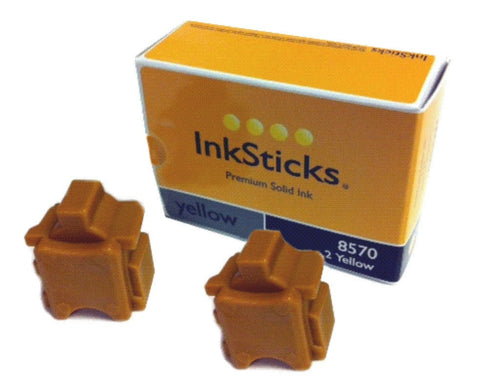2 Yellow Inksticks® Premium Compatible Ink to replace Xerox 108R00997