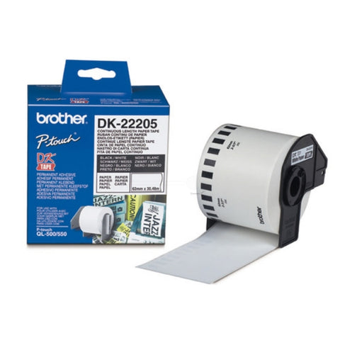 Brother DK-22205 62mm x 30,48m P-Touch Etikettes