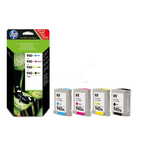 Original HP 940XL Multi Pack (6,400 pages) 4 Pack C2N93AE