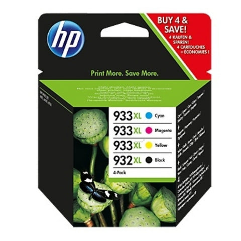 HP 932/933XL Multi Pack Containing 4 Cartridges, Cyan, Magenta, Yellow & Black (C2P42AE)