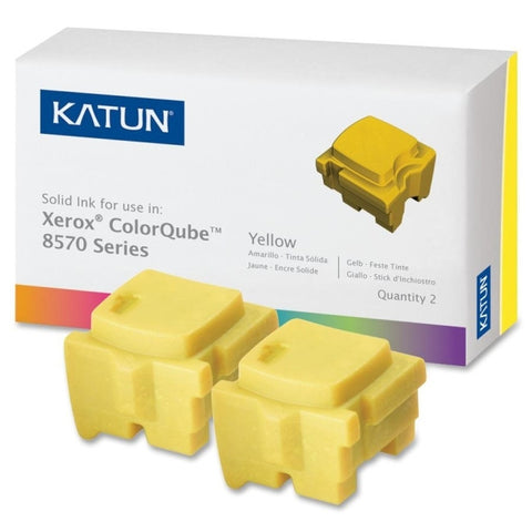 2 Yellow Katun® ColorQube 8570/8580 108R00933
