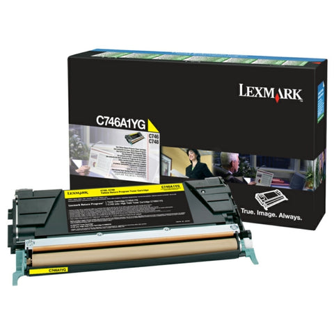 Lexmark C746A1YG Yellow Toner (7,000 Pages)