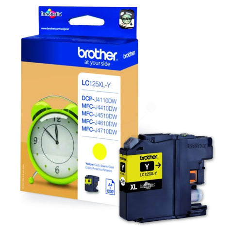 Brother LC125XLY Yellow (1,200 Pages)