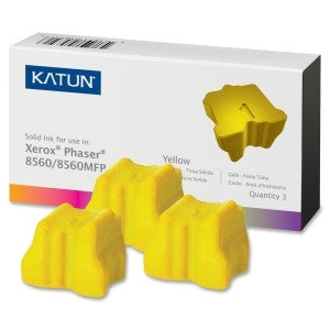 3 Yellow Katun® Premium Compatible Ink to replace 108R00725