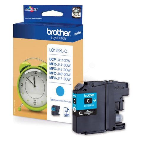 Brother LC125XLC Cyan (1,200 Pages)