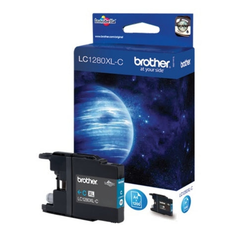 Genuine Brother LC-1280XLC Cyan Toner (1,200 Pages)