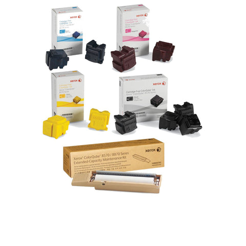Xerox® ColorQube 8570/8580 Value Pack Special (10 Genuine Inks + Maintenance Kit)