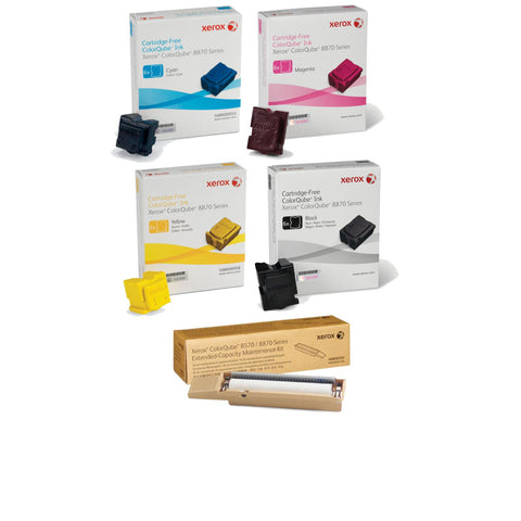 Xerox® ColorQube 8870/8880 Value Pack Plus (24 Inks + Maintenance Kit)