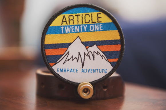 Article Twenty One | Embrace Adventure Patch