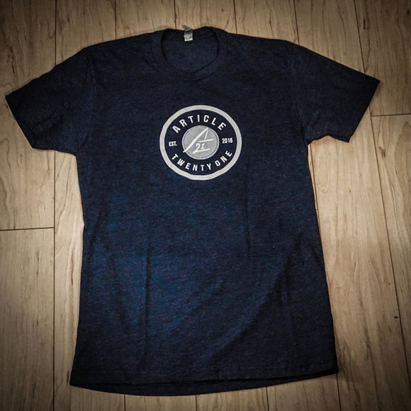 Article Twenty One v1 Tee - Midnight Navy
