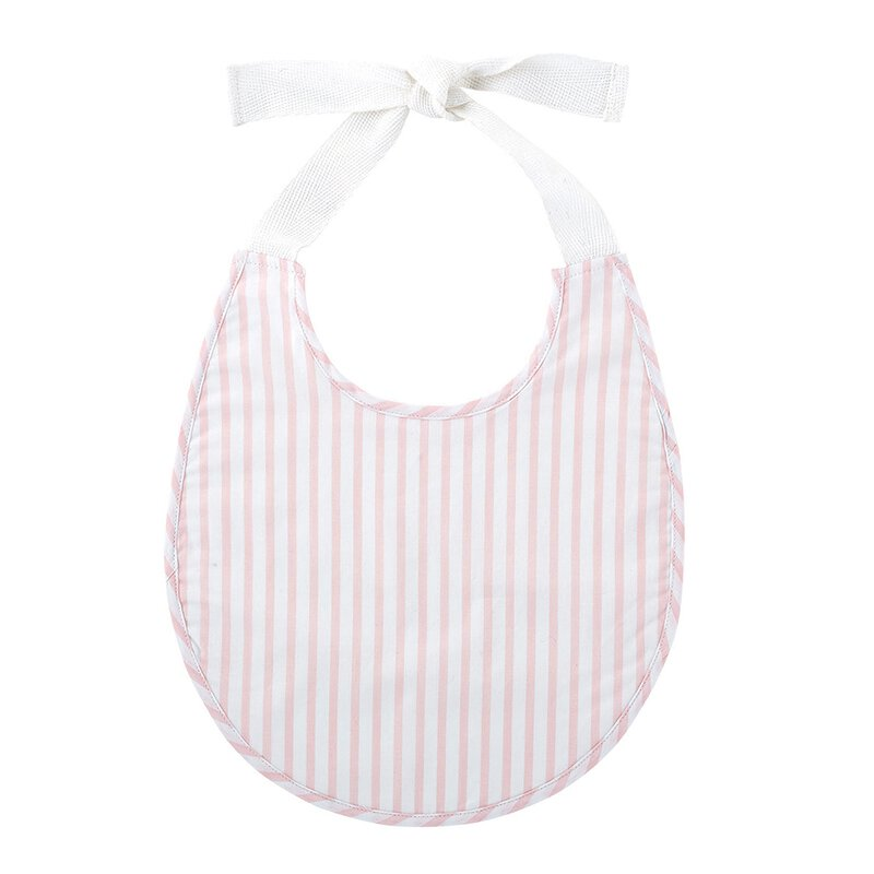 Pink Stripes Vinatage Tied Bib
