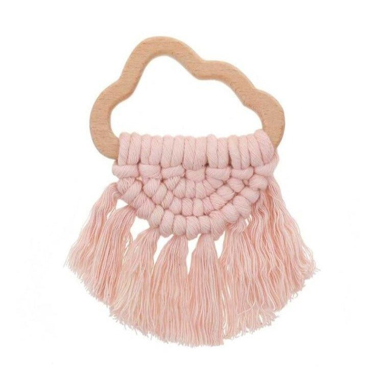 Rose Cloud - Macrame Teether