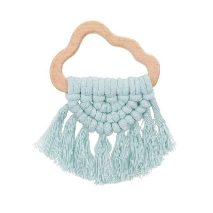 Sky Cloud - Macrame Teether