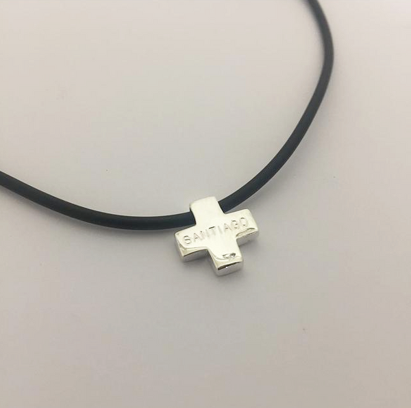 Engraved Cross with Leather Necklace