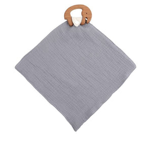 Elephant Muslin Blankie & Teether