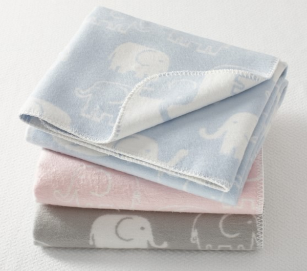 Baby Blanket - Reversible Elephants