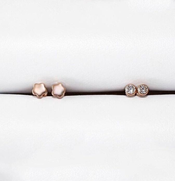 10 K - Rose Gold New Born Studs