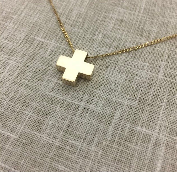 Gold Cross & Necklace