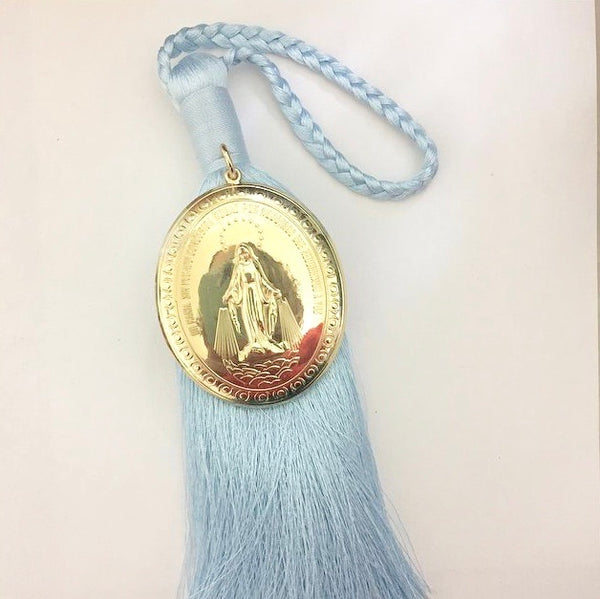 Gold & Blue Virgin of Miracles - Door Blessing