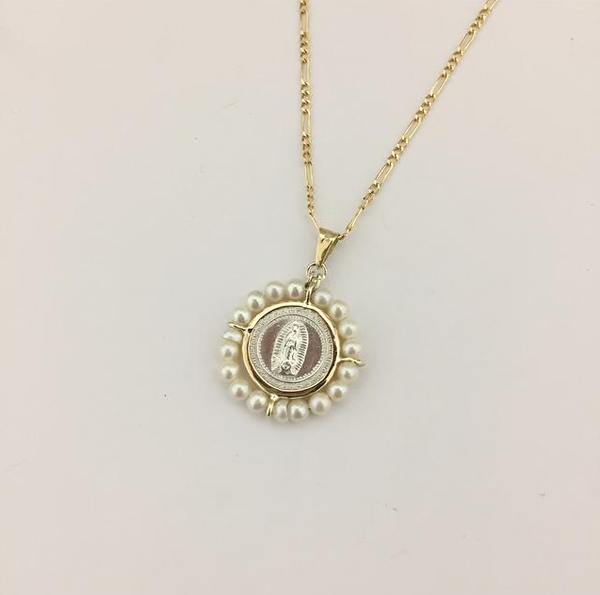 Baby Pearl Medal and Necklace