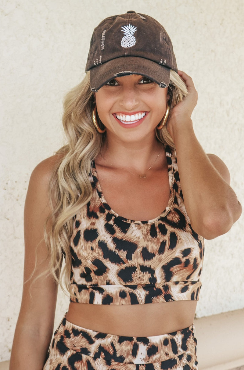 Leopard Confidence Biker Shorts Set