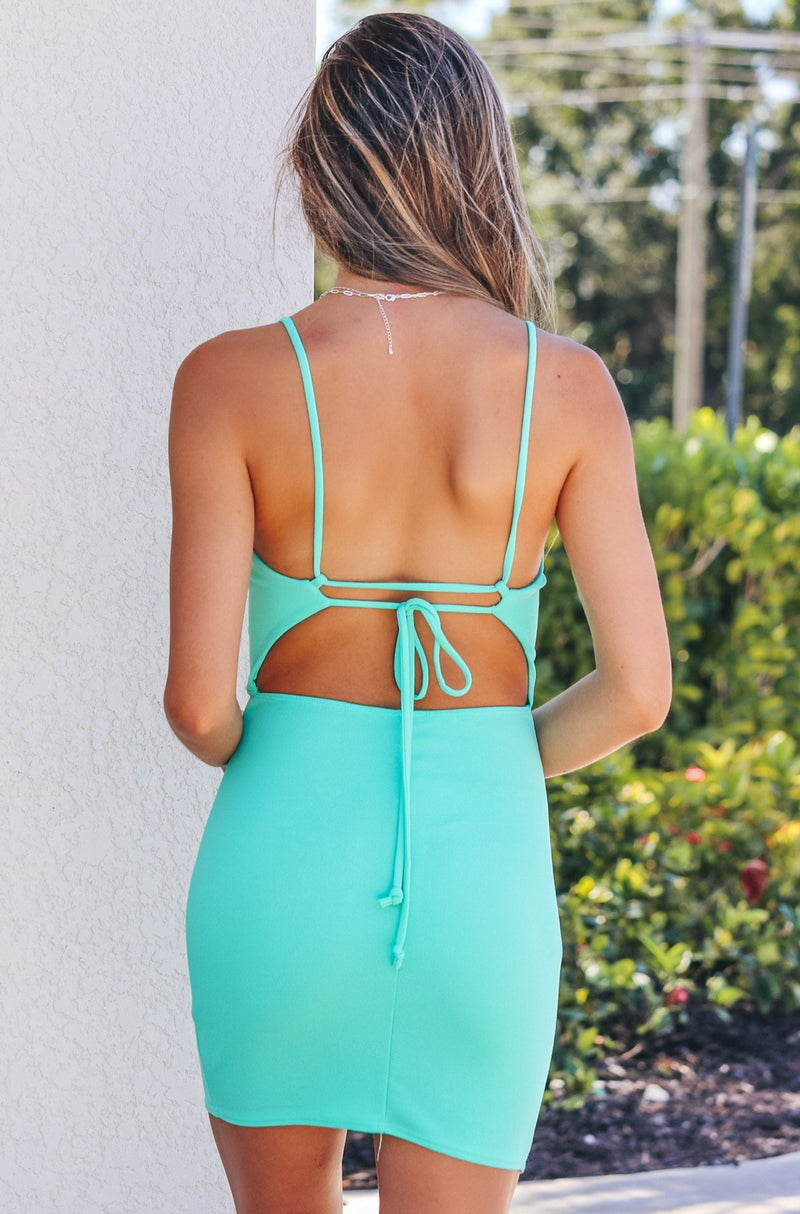 I'm All Yours Dress- Mint