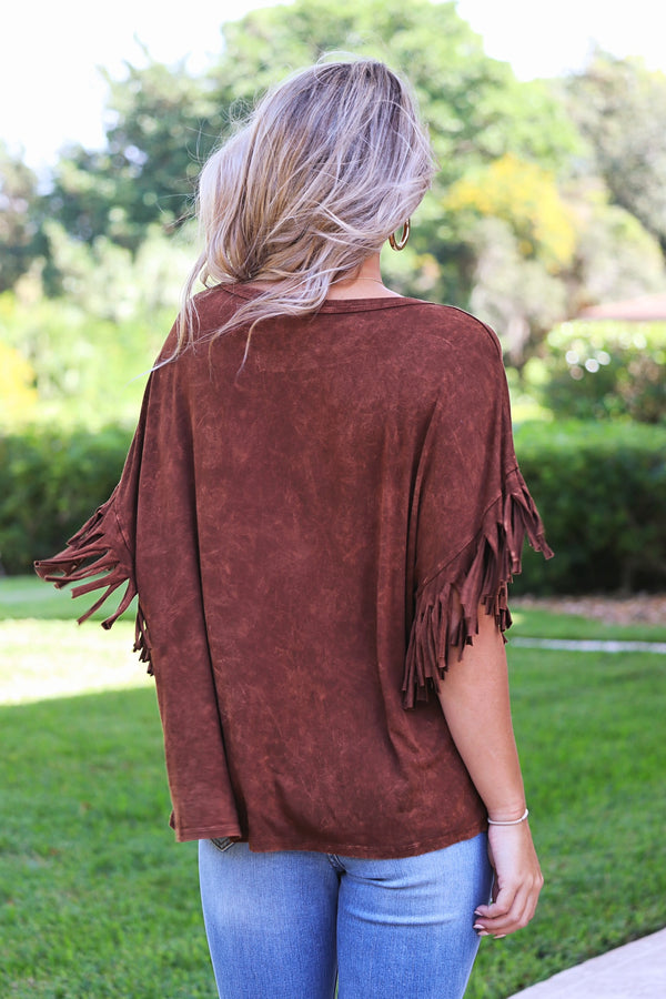 Dressed To Thrill Fringe Top
