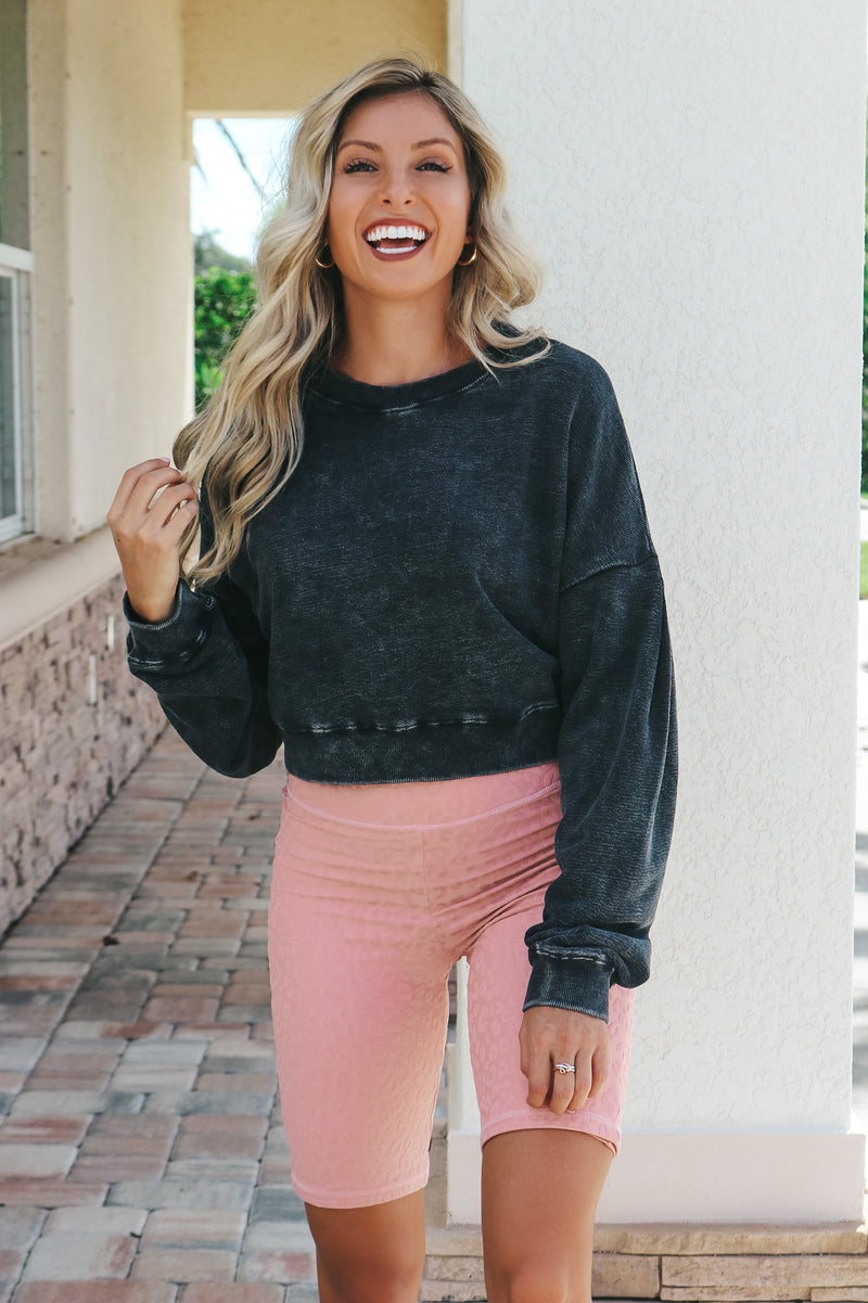 Have To Run Biker Shorts- Dusty Pink