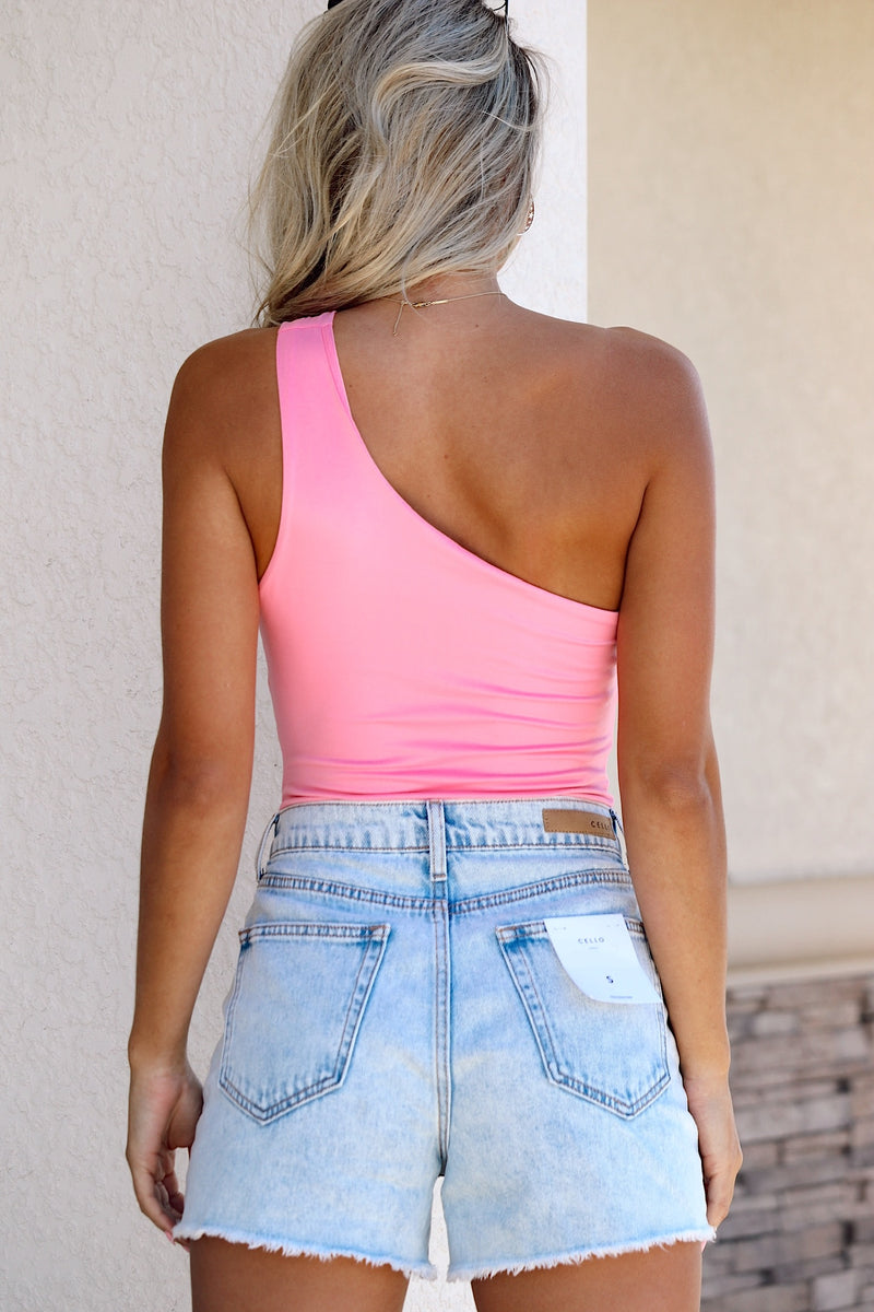 Falling For You Bodysuit- Pink