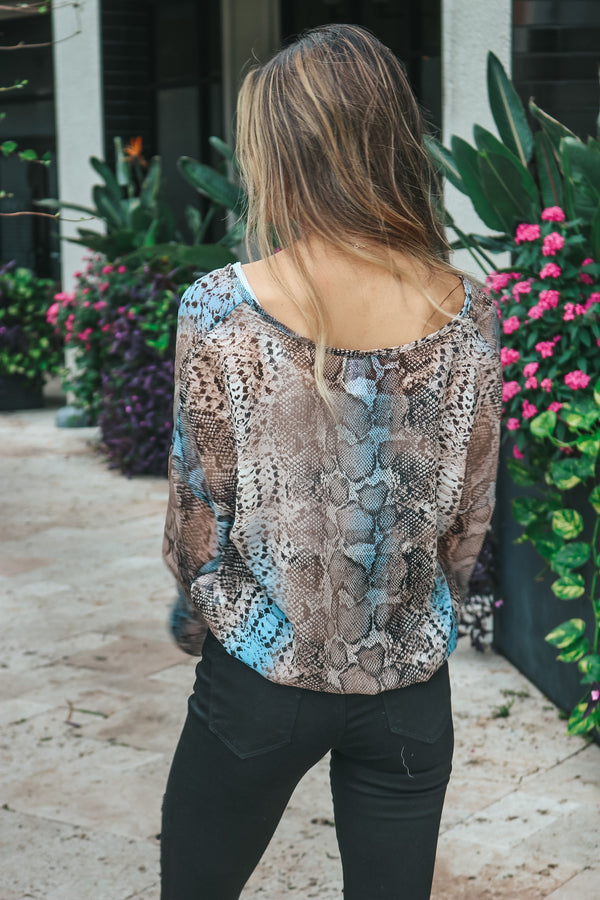 Bring The Fun Snake Print Top