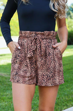 Wild About It Leopard Shorts
