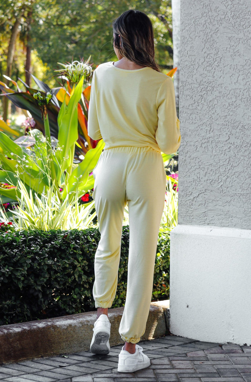 Morning Sunshine Jogger Set- Yellow