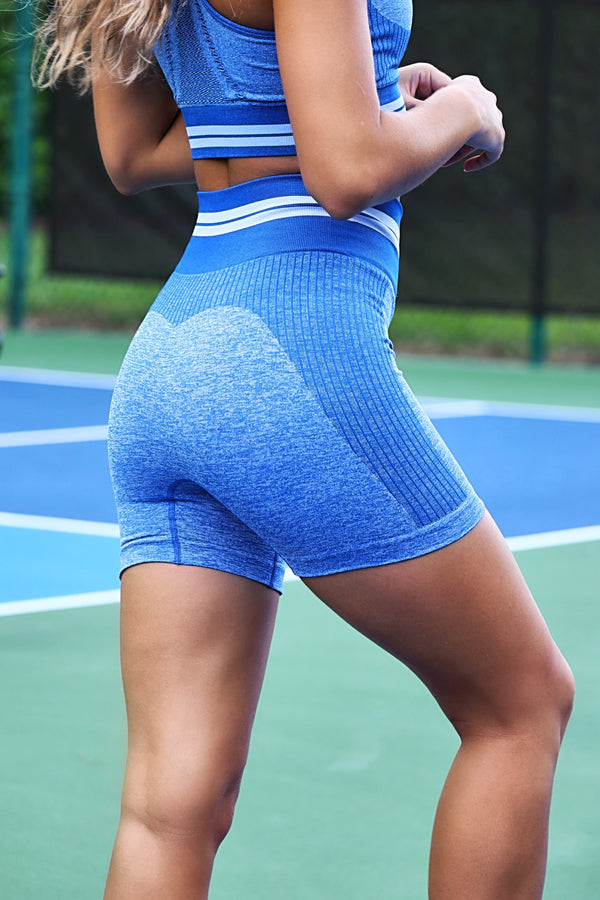 Stronger Than You Think Shorts- Blue