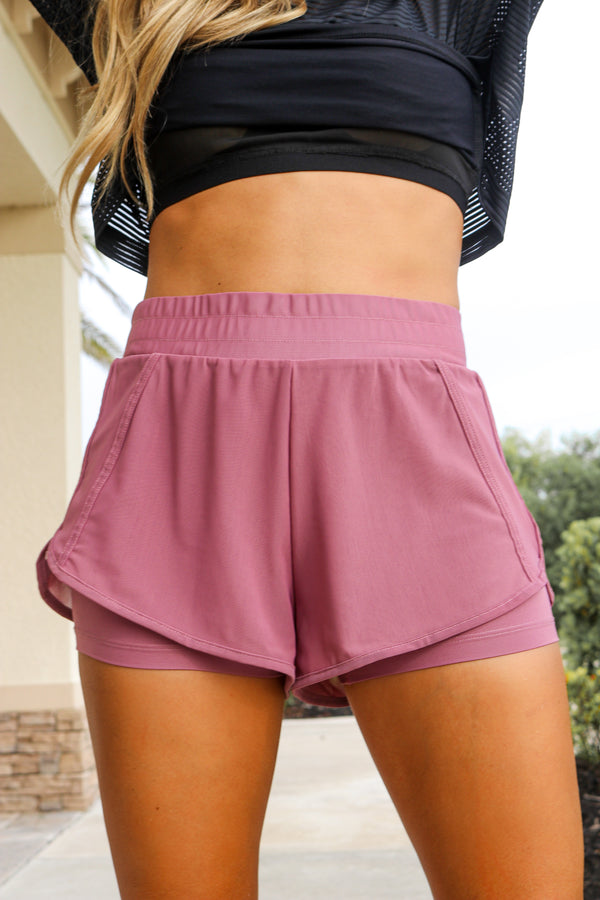 Pep In Your Step Shorts - Purple